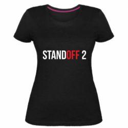Женская стрейчевая футболка Standoff 2 logo