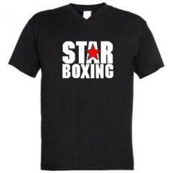 Мужская футболка  с V-образным вырезом Star Boxing - FatLine