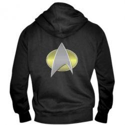 Мужская толстовка на молнии Star Trek Gold Logo - FatLine