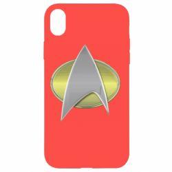 Чохол для iPhone XR Star Trek Gold Logo - FatLine