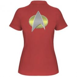 Жіноча футболка поло Star Trek Gold Logo - FatLine