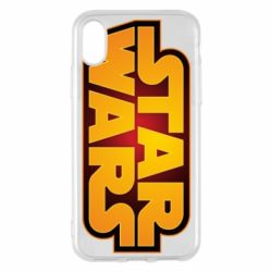 Чохол для iPhone X/Xs Star Wars Gold Logo