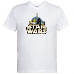 Мужская футболка  с V-образным вырезом Star Wars Lego - FatLine