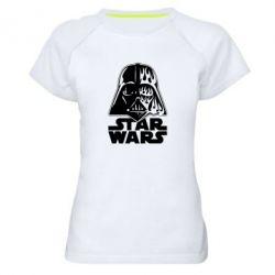 Жіноча спортивна футболка STAR WARS MASK
