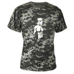 Камуфляжная футболка Star Wars с гантелей - FatLine
