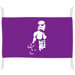 Флаг Star Wars с гантелей
