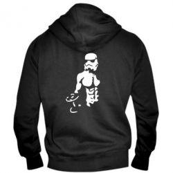 Мужская толстовка на молнии Star Wars с гантелей - FatLine