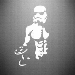 Наклейка Star Wars с гантелей - FatLine