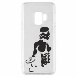 Чехол для Samsung S9 Star Wars с гантелей