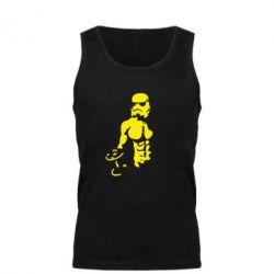 Мужская майка Star Wars с гантелей - FatLine