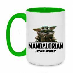 Кружка двухцветная 420ml Star Wars Yoda beby