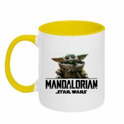 Кружка двухцветная 320ml Star Wars Yoda beby
