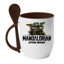 Кружка с керамической ложкой Star Wars Yoda beby