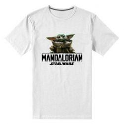 Мужская стрейчевая футболка Star Wars Yoda beby