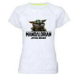 Женская спортивная футболка Star Wars Yoda beby