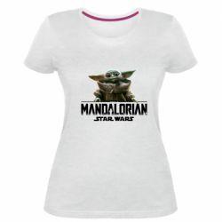 Женская стрейчевая футболка Star Wars Yoda beby