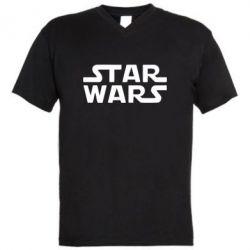Мужская футболка  с V-образным вырезом STAR WARS - FatLine
