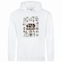 Купить Star Wars, Мужская толстовка Star Wers made easy, FatLine