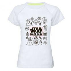 Женская спортивная футболка Star Wers made easy