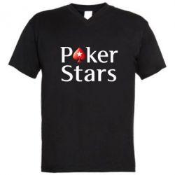 Мужская футболка  с V-образным вырезом Stars of Poker