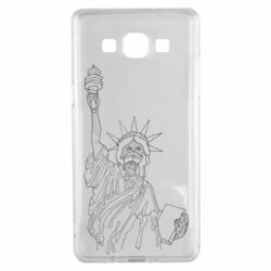 Чохол для Samsung A5 2015 Statue of Liberty with a medical mask