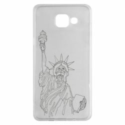 Чохол для Samsung A5 2016 Statue of Liberty with a medical mask
