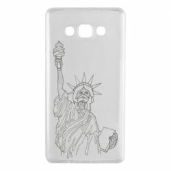 Чохол для Samsung A7 2015 Statue of Liberty with a medical mask