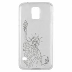 Чохол для Samsung S5 Statue of Liberty with a medical mask