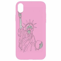 Чохол для iPhone XR Statue of Liberty with a medical mask