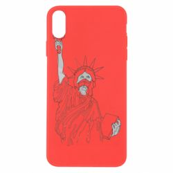 Чохол для iPhone Xs Max Statue of Liberty with a medical mask