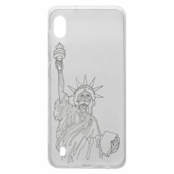 Чохол для Samsung A10 Statue of Liberty with a medical mask