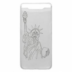 Чохол для Samsung A80 Statue of Liberty with a medical mask