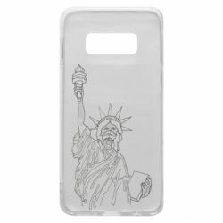 Чохол для Samsung S10e Statue of Liberty with a medical mask