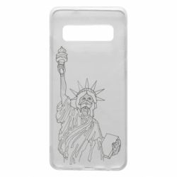 Чохол для Samsung S10 Statue of Liberty with a medical mask