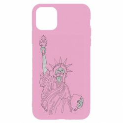 Чохол для iPhone 11 Statue of Liberty with a medical mask