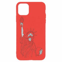 Чохол для iPhone 11 Pro Statue of Liberty with a medical mask