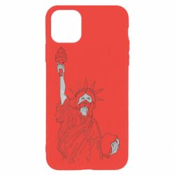 Чохол для iPhone 11 Pro Max Statue of Liberty with a medical mask