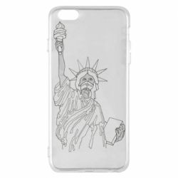Чохол для iPhone 6 Plus/6S Plus Statue of Liberty with a medical mask