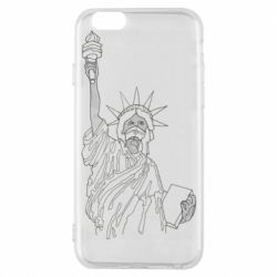 Чохол для iPhone 6 Statue of Liberty with a medical mask
