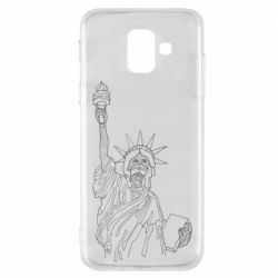 Чохол для Samsung A6 2018 Statue of Liberty with a medical mask