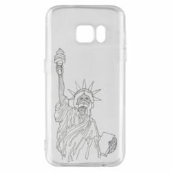 Чохол для Samsung S7 Statue of Liberty with a medical mask