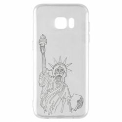 Чохол для Samsung S7 EDGE Statue of Liberty with a medical mask