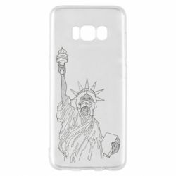 Чохол для Samsung S8 Statue of Liberty with a medical mask