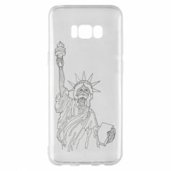 Чохол для Samsung S8+ Statue of Liberty with a medical mask