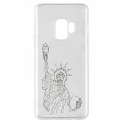 Чохол для Samsung S9 Statue of Liberty with a medical mask