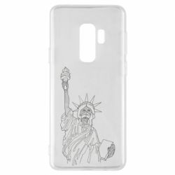 Чохол для Samsung S9+ Statue of Liberty with a medical mask
