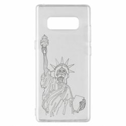 Чехол для Samsung Note 8 Statue of Liberty with a medical mask