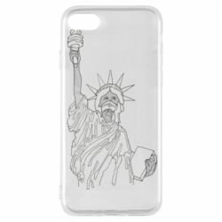 Чохол для iPhone 8 Statue of Liberty with a medical mask