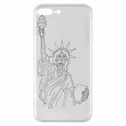 Чохол для iPhone 8 Plus Statue of Liberty with a medical mask
