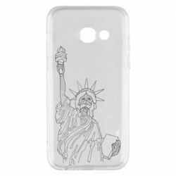 Чохол для Samsung A3 2017 Statue of Liberty with a medical mask